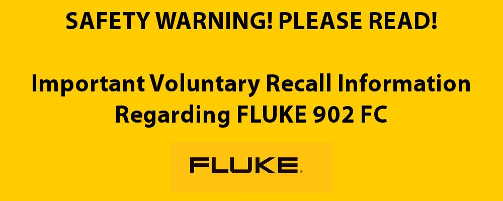 FLUKE 902 FC Recall Banner