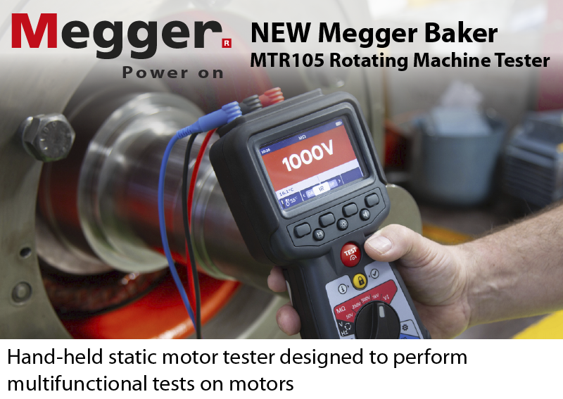 Megger Baker application photo of the MTR105 motor tester