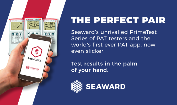 Launch banner for Seaward PATMobile App for PAT Testing